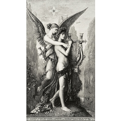 Hésiode and the muse - Gustave Moreau