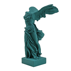 Victory of Samothrace - Petrol green