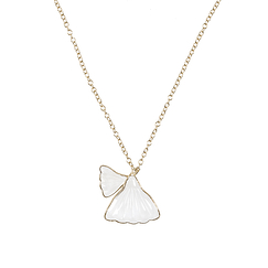 Gingko Necklace White