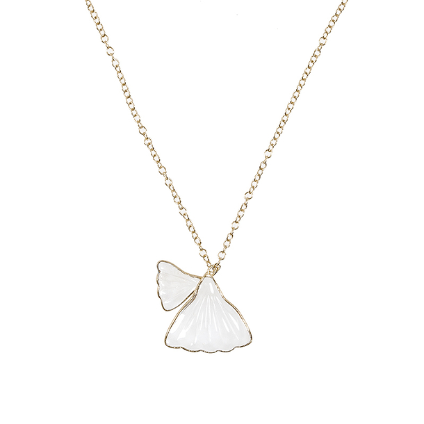 Collier Gingko Blanc