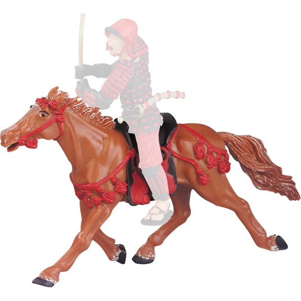 Figurine The horse at the red harness