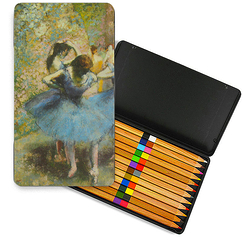 Degas metal box of Duo colouring pencils