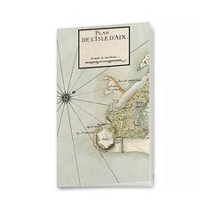 Map of isle of Aix - Small notebook