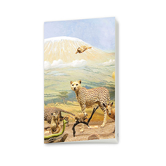 Diorama of Kilimandjaro - Small notebook