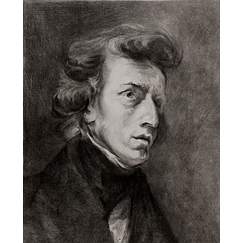 Portrait of Chopin - Delacroix