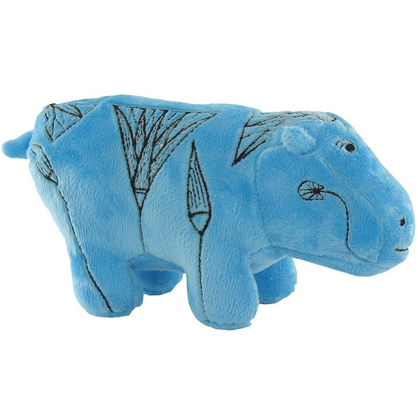 Blue Hippopotamus Cuddly toy - Small