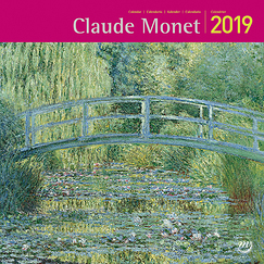 Calendrier grand format - Claude Monet 2019