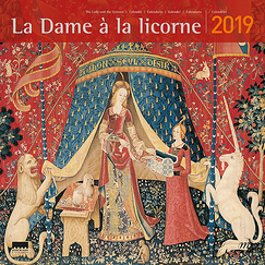 Large Calendar - Lady with the unicorn 2019