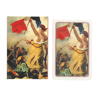 "Playing cards - Delacroix ""Liberty Leading the People"""