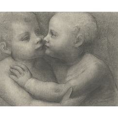 Two children kissing each other - Leonardo da Vinci