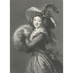 Mrs. Molé-Raymond, member of the French comedy society - Louise-Elisabeth Vigée-Lebrun