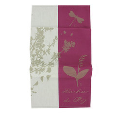 Herbarium of the King Tea towel / Plum