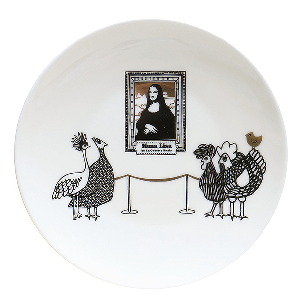 Coffret de 4 assiettes Mona Lisa