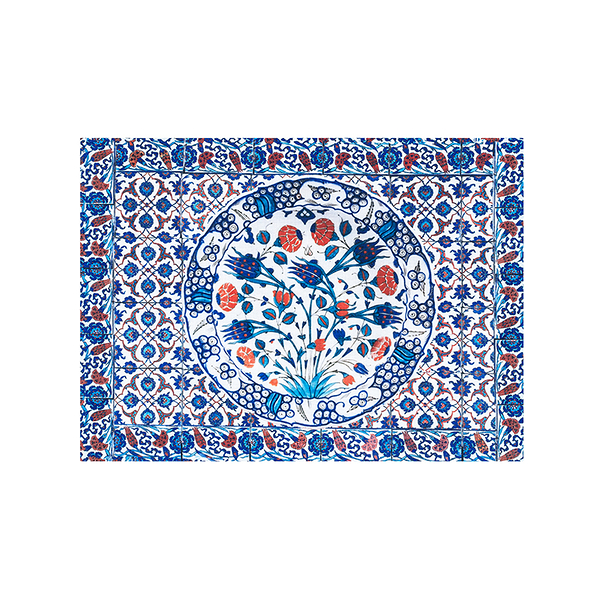 Set de table Iznik Tulipes bleues