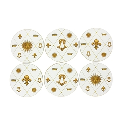 6 Emblems of Versailles Coasters