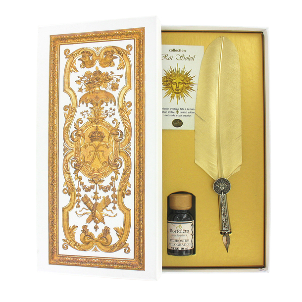 Versailles writing set - Golden Goose Quill - Bortoletti