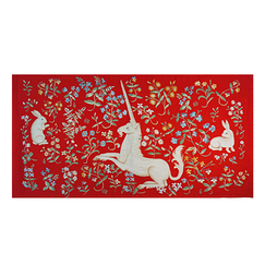 Red Unicorn tapestry 50X75 cm