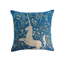 Blue Unicorn cushion cover