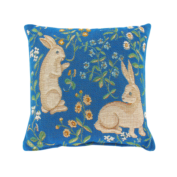 Blue Rabbit Cushion