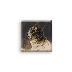 "Magnet - Delacroix ""Head of cat"""