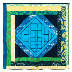 Versailles Square scarf - Green