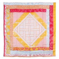 Versailles Square scarf - Pink