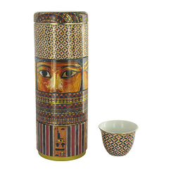 Box of 4 sarcophagus cups