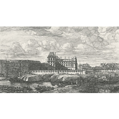 View of the old Louvre, on the Seine side