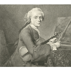 The young man with the violin