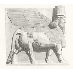 Winged bull with human head - Nineveh