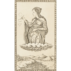 Geometry, Card 24 of the Mantegna Tarot