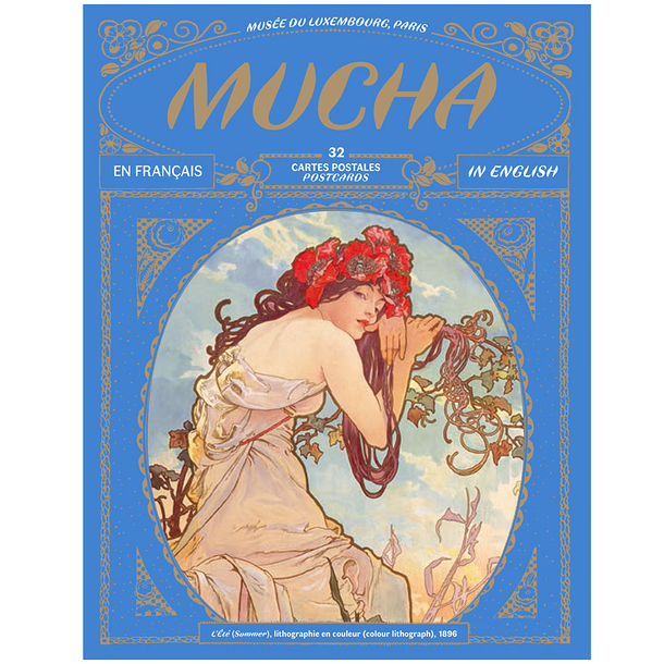 32 postcards Mucha