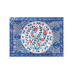 Set de table Iznik Tulipes rouges