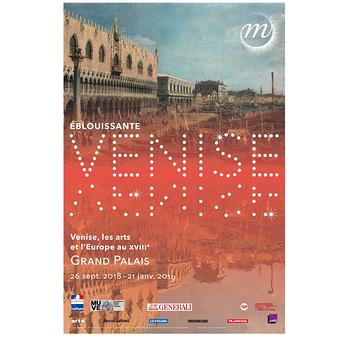 Exhibition poster Éblouissante Venise