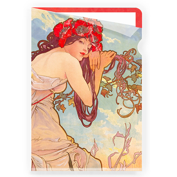 The summer Mucha Clear file - A4