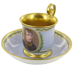 "Cup and saucer with the ""Portrait of Bonaparte"""