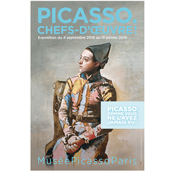 Exhibition poster Picasso Chefs-d'œuvre