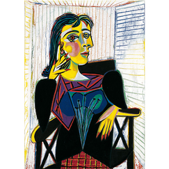 Poster Dora Maar assise by Picasso