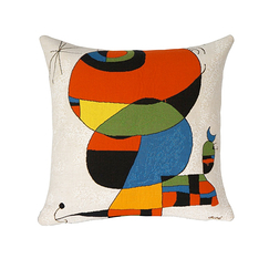 Cushion cover Miró Woman, bird, star 1