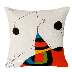Cushion cover Miró Woman, bird, star 2