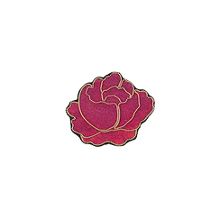 Broche Rose brodée