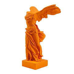 Victory of Samothrace 34 cm - Saffron yellow