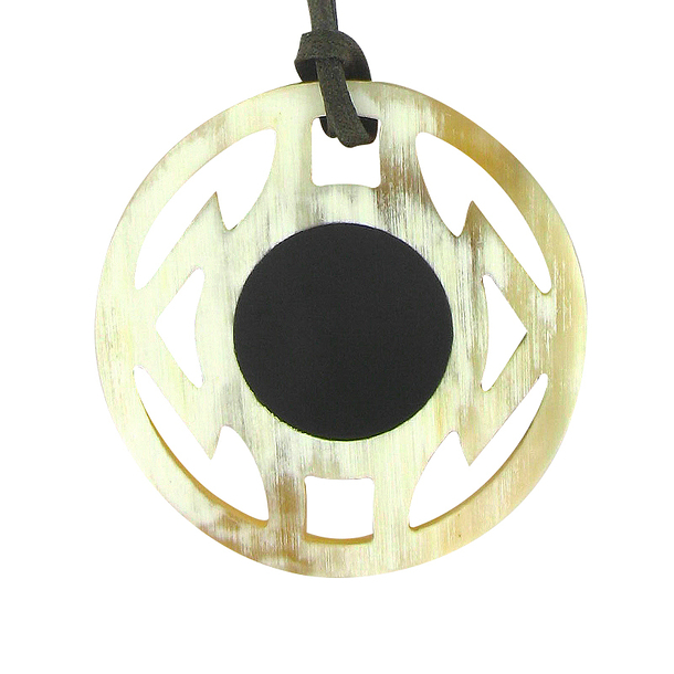 Graphic horn Necklace - Blond