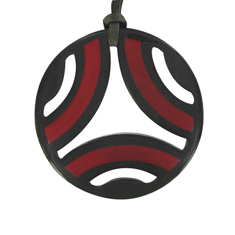 Graphic horn Necklace - Black
