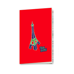 "Carnet ""Plan de Paris"" - Tour Eiffel"