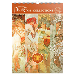Calendrier grand format 2019 Mucha