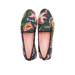Ballerin shoes with flowery pattern - Donatella Brunello