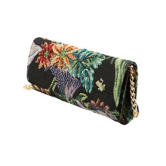 Pochette en tissu floral - Donatella Brunello - Noire