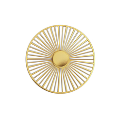 Small Solar brooch - Gold color