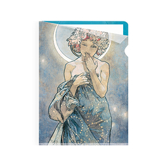 *Moon and stars Mucha Clear file - A5 SR